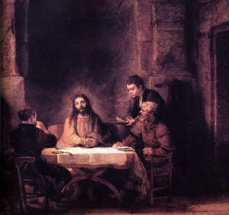 Христос в Еммаусі   Рембрандт Харменс Ван Рейн