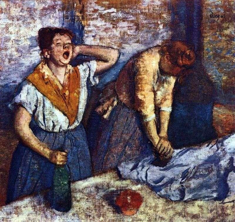 Пралі гладять   Едгар Дега