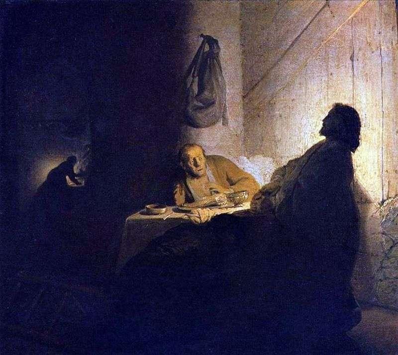 Христос і учні в Еммаусі   Рембрандт Харменс Ван Рейн