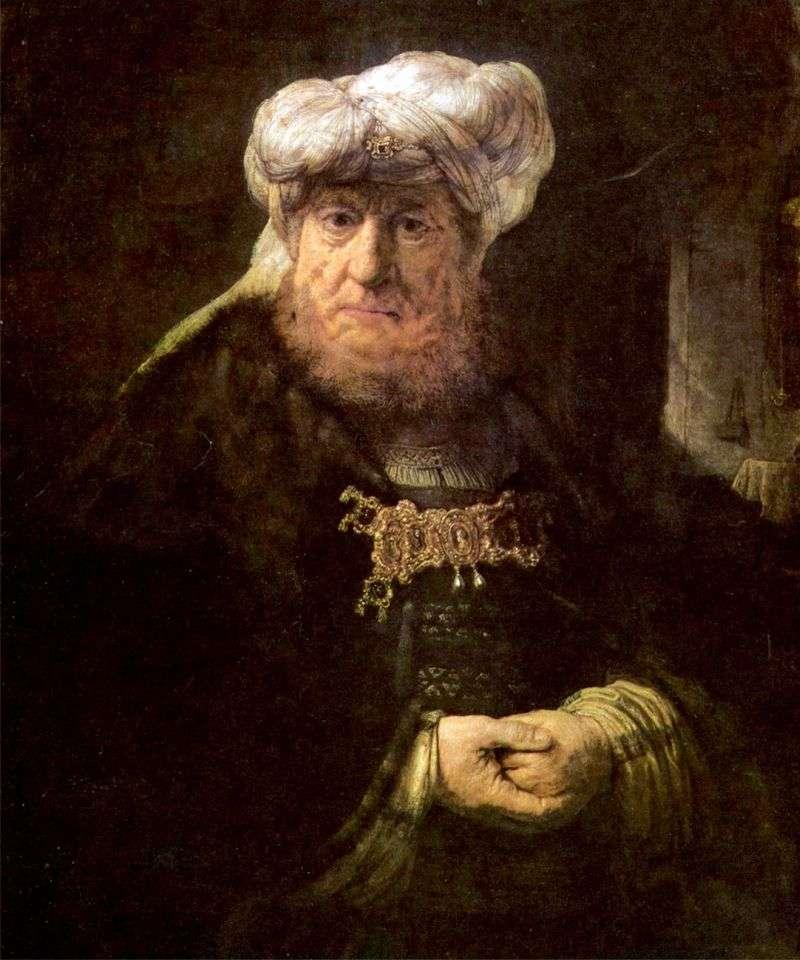 Цар Уззійя, вражений проказою   Рембрандт Харменс Ван Рейн