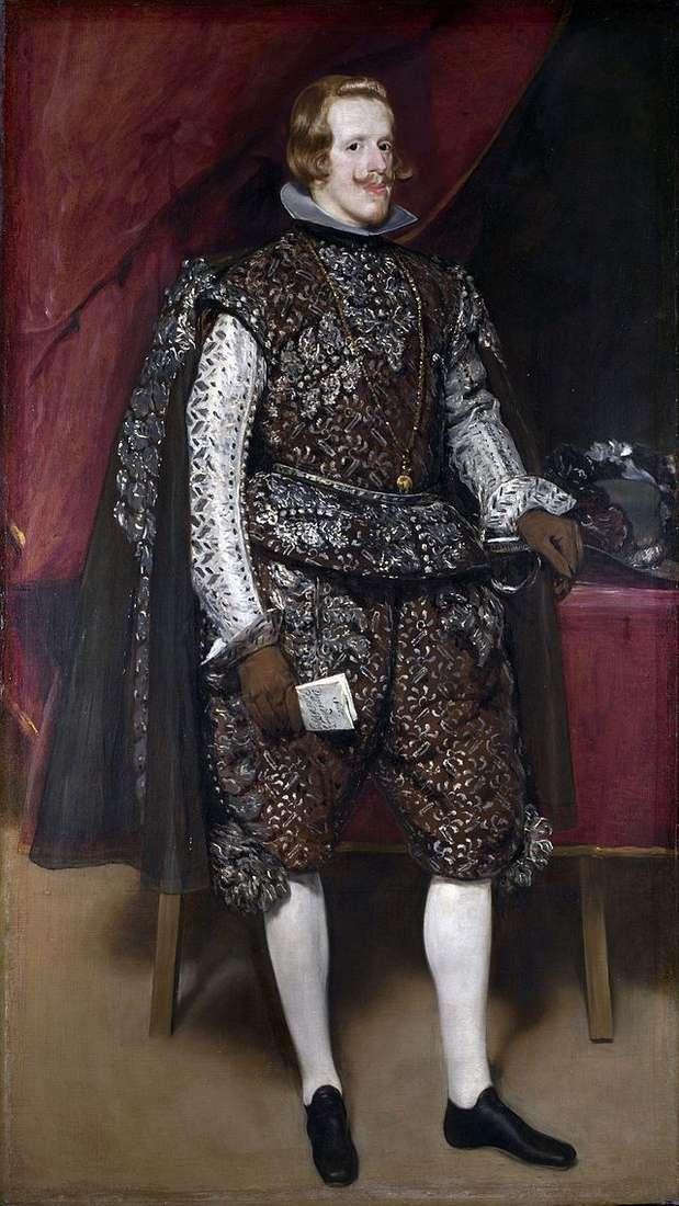 Портрет Філіпа IV в коричневому з сріблом костюмі   Дієго Веласкес