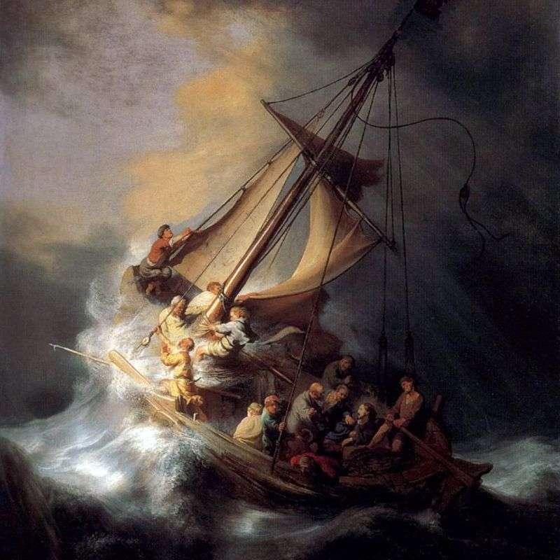 Човник Христа під час бурі   Рембрандт Харменс Ван Рейн