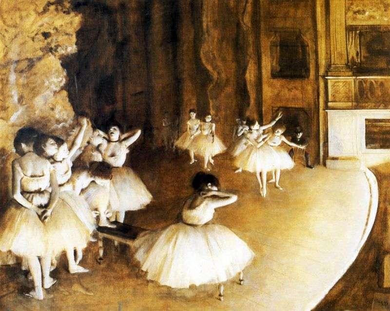 Репетиція балету на сцені   Едгар Дега