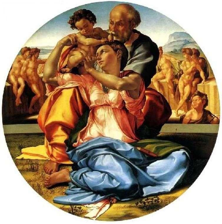 Святе Сімейство (Тондо Доні)   Мікеланджело Буонарроті