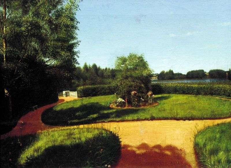 Вид на палісадник в садибі Н. П. Мілюкова Острівці   Григорій Сорока