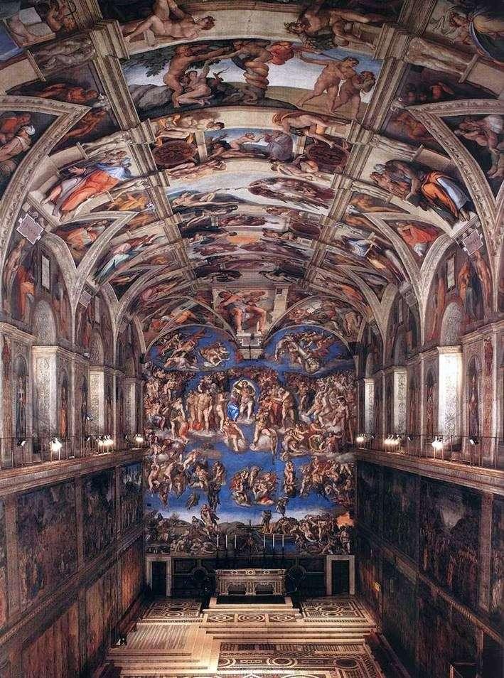 Інтерєр сікстинської капели   Мікеланджело Буанарротти