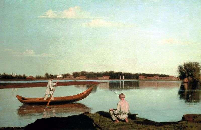 Рибалки. Вигляд маєтку Спаське   Григорій Сорока