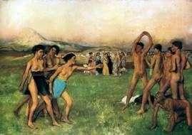 Спартанські дівчата викликають на змагання юнаків   Едгар Дега