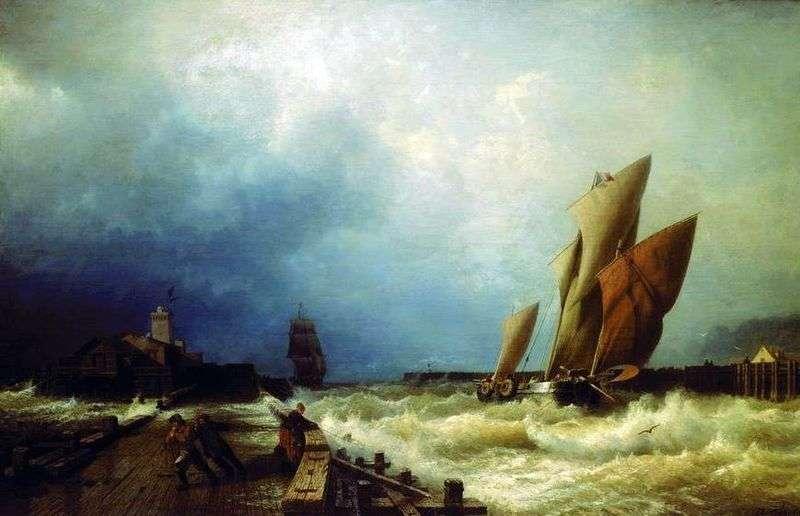 Вхід рибальського судна в бурю в гавань Сен Валері в Ко   Олексій Боголюбов