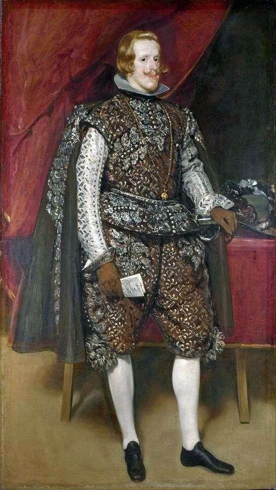 Філіп 4 Іспанська в коричневому і срібному   Дієго Веласкес