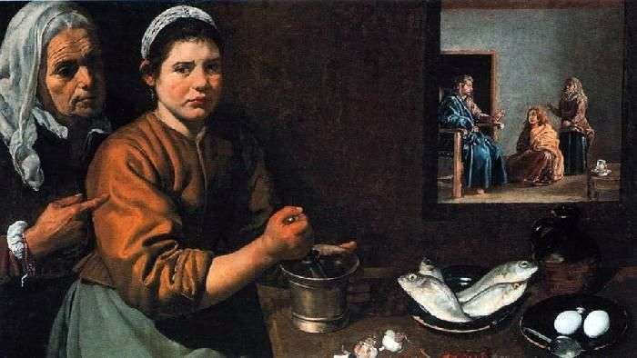 Христос в будинку Марфи і Марії   Дієго Веласкес