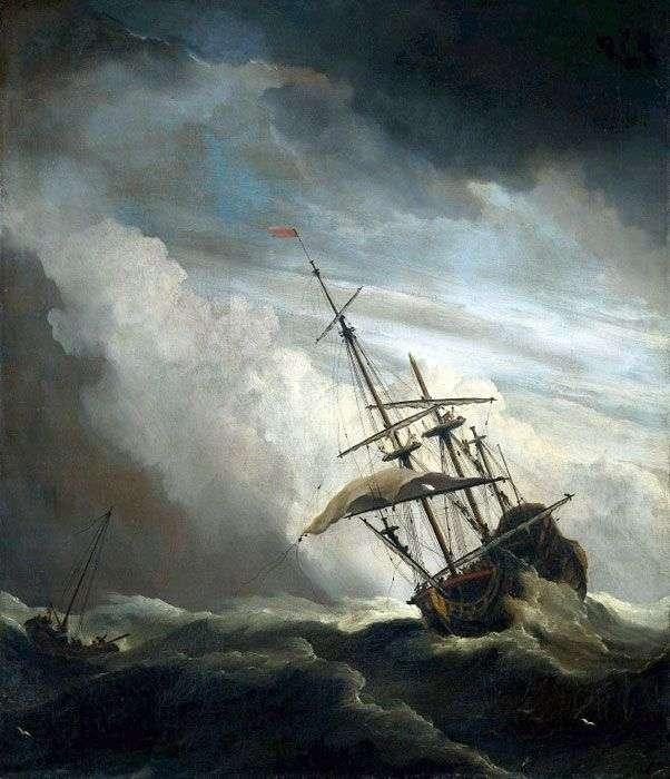 Судно у відкритому морі   Віллем ван де Велде