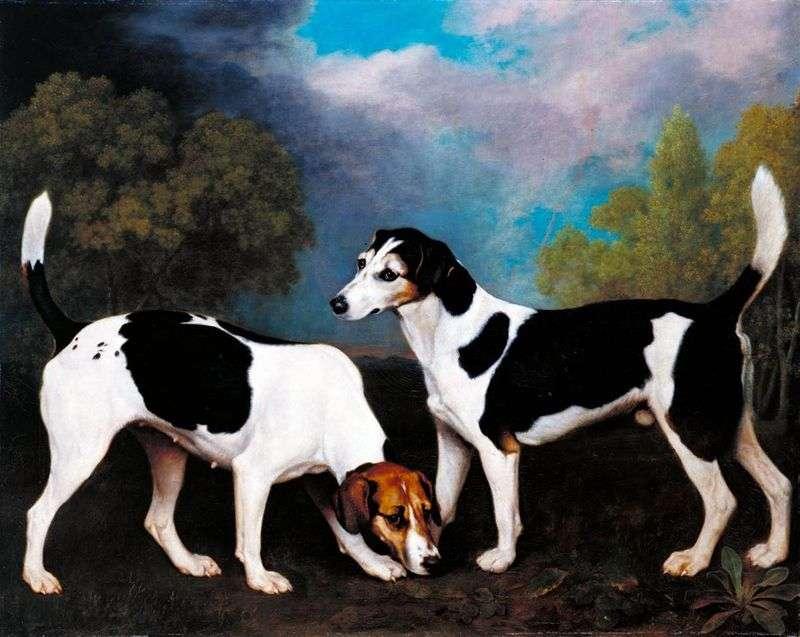 Пейзаж з мисливськими собаками   Джордж Стаббс