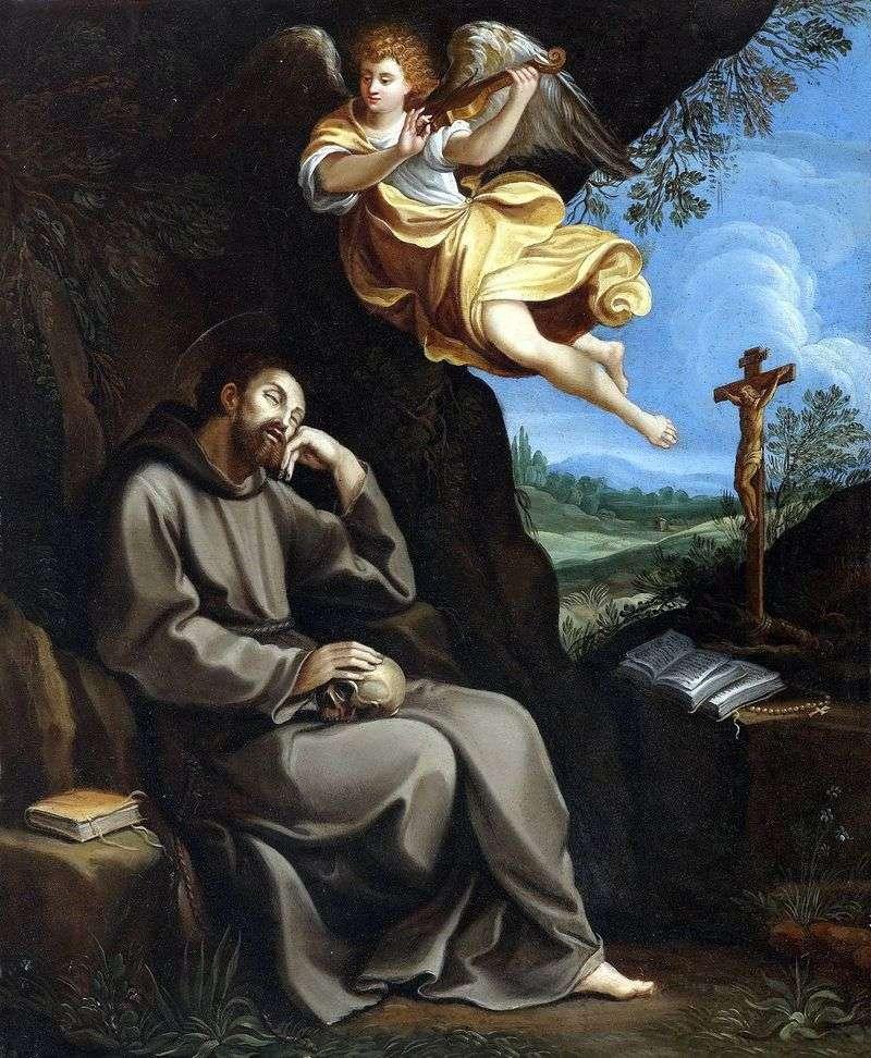 Святий Франциск і ангел   Гвідо Рені
