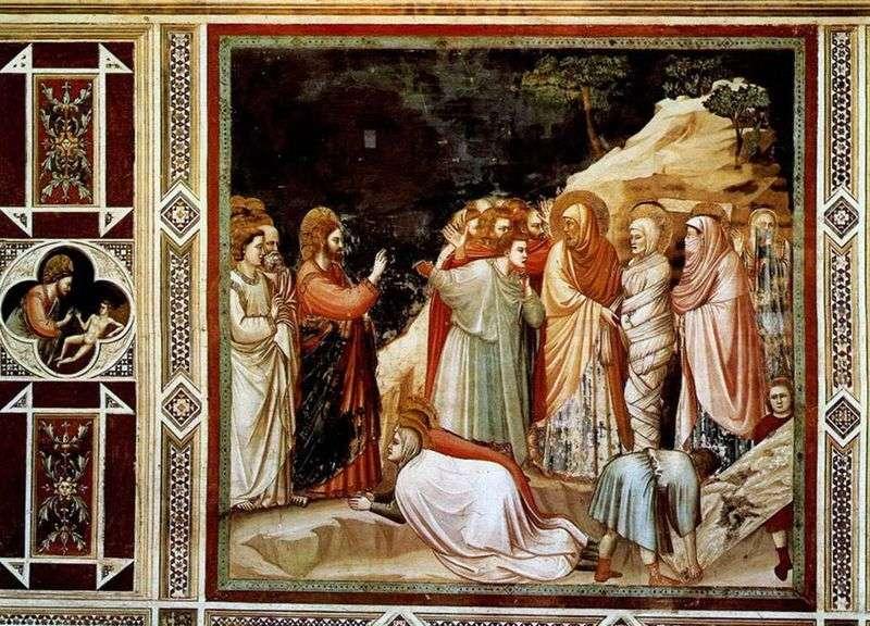 Воскресіння Лазаря   Джотто ді Бондоне