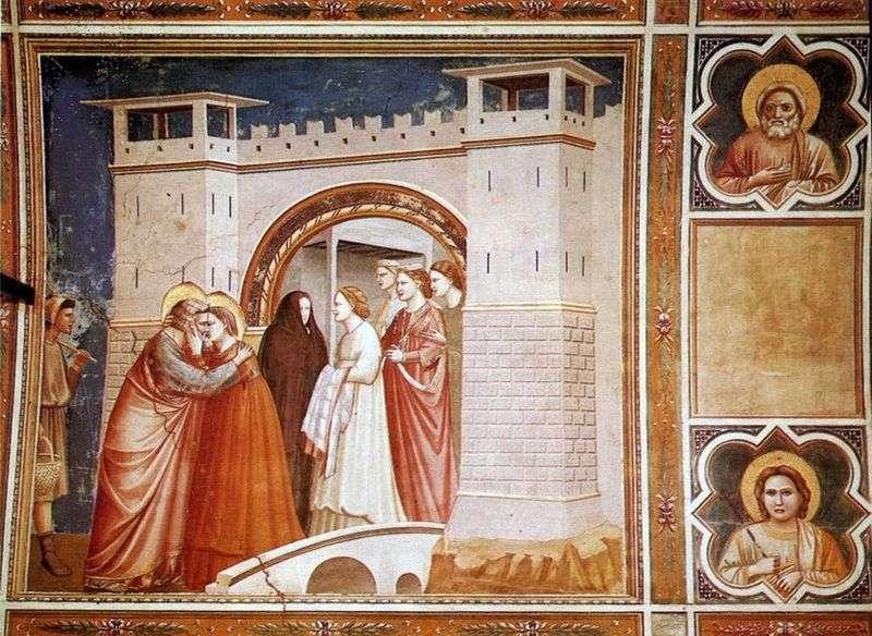 Зустріч Анни з Іоакимом біля Золотих воріт   Джотто ді Бондоне