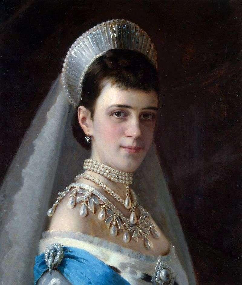 Портрет імператриці Марії Федорівни в перловому уборі   Іван Крамськой