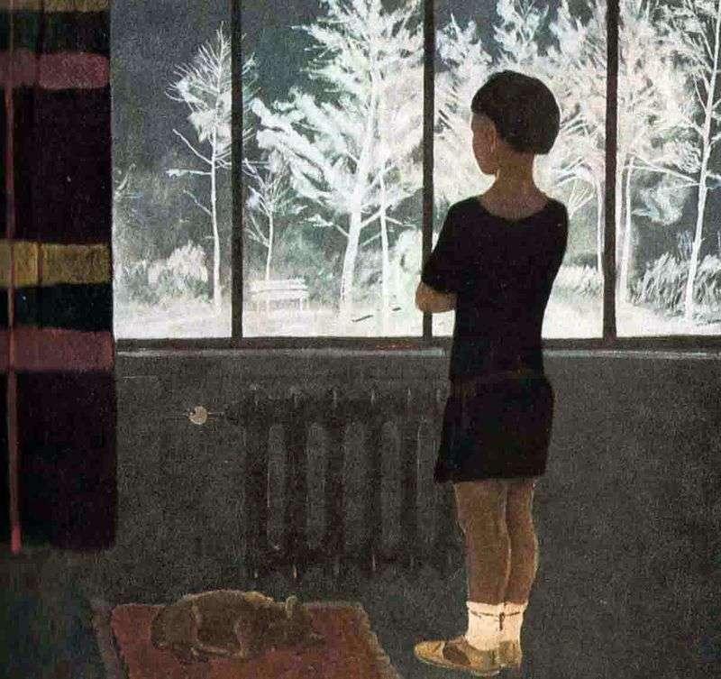 Зима. Дівчинка біля вікна   Олександр Дейнека