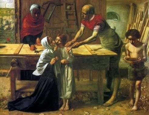 Христос в батьківському домі   Джон Еверетт Миллес