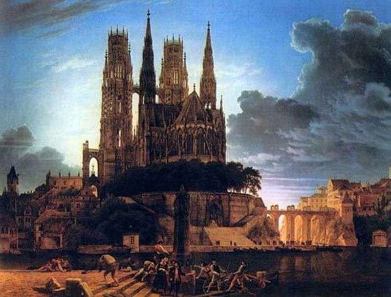 Готичний собор на березі   Карл Фрідріх Шинкель
