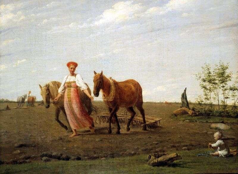 На ріллі. Весна   Олексій Венеціанов