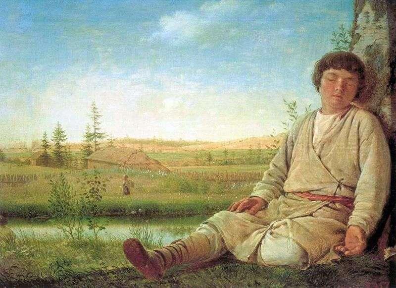 Сплячий пастушок   Олексій Венеціанов