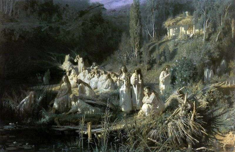 Травнева ніч (Русалки)   Іван Крамськой