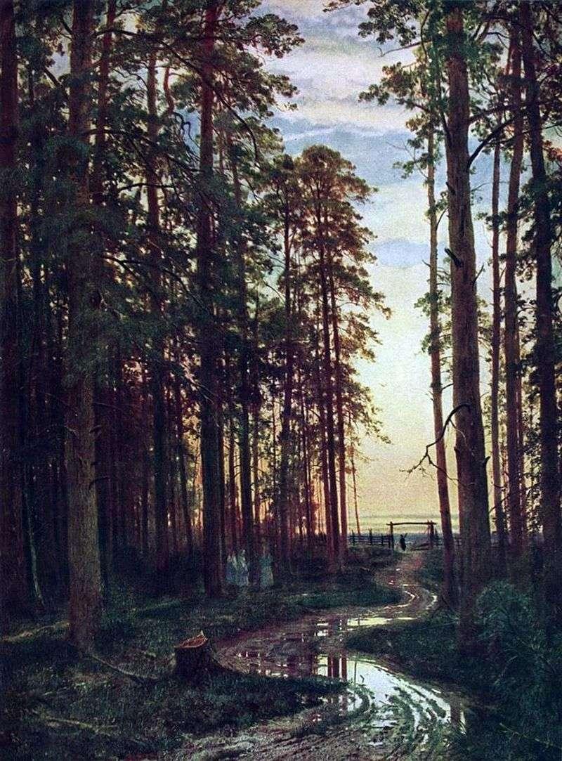 Вечір в сосновому лісі   Іван Шишкін