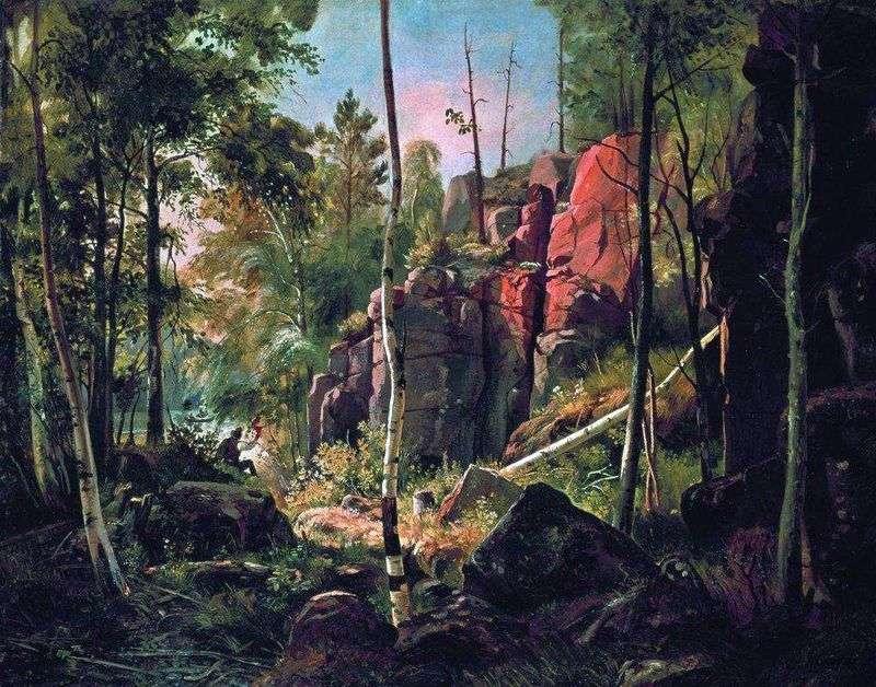 Вид на острові Валаамі (Місцевість Кукко)   Іван Шишкін