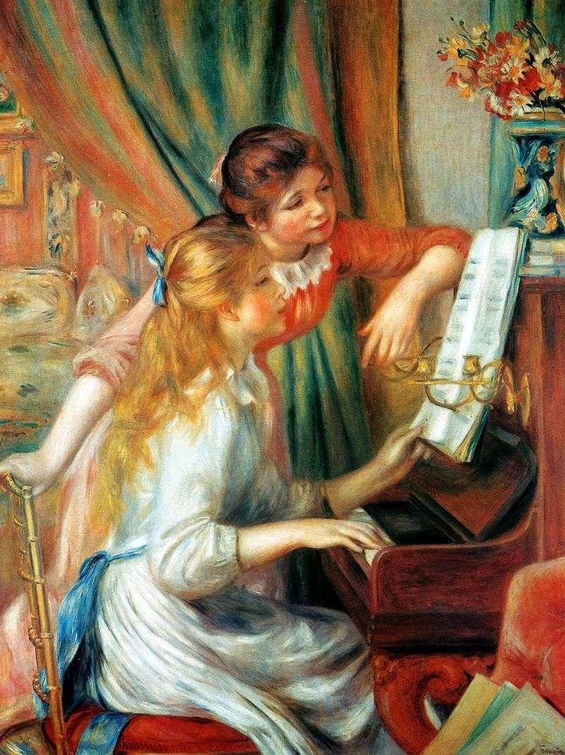 Дівчата за піаніно (Дівчата у піаніно)   Пєр Огюст Ренуар
