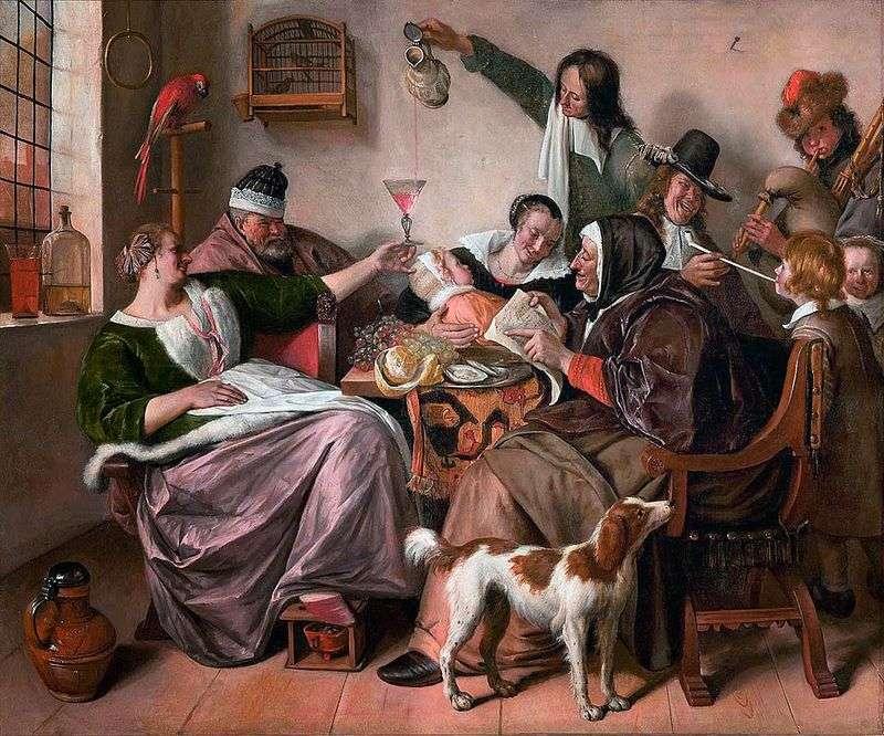 Веселощі в сімї художника   Ян Стін