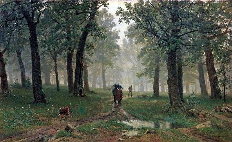 Дощ у дубовому лісі   Іван Шишкін