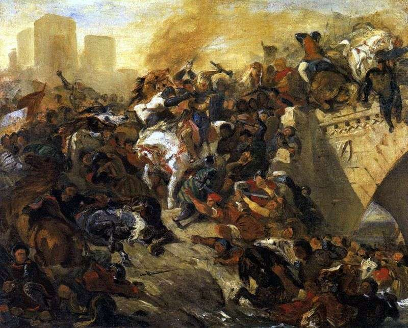 Битва при Тейебуре   Ежен Делакруа