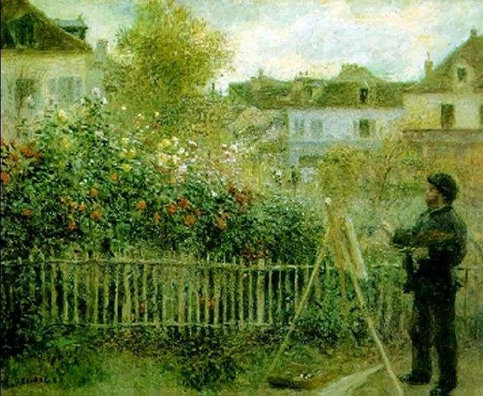 Клод Моне, який працює в своєму саду   Пєр Огюст Ренуар