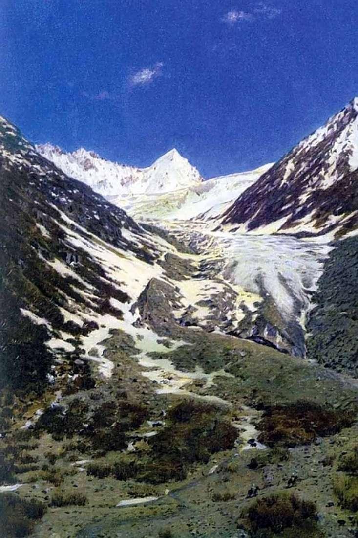 Льодовик по дорозі з Кашміру в Ладакх   Василь Верещагін