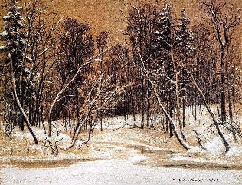 Ліс взимку   Іван Шишкін