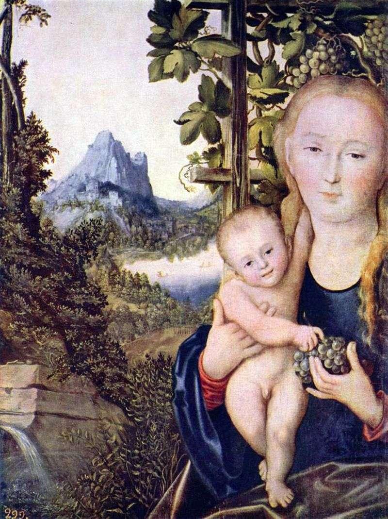 Мадонна з Немовлям   Лукас Кранах