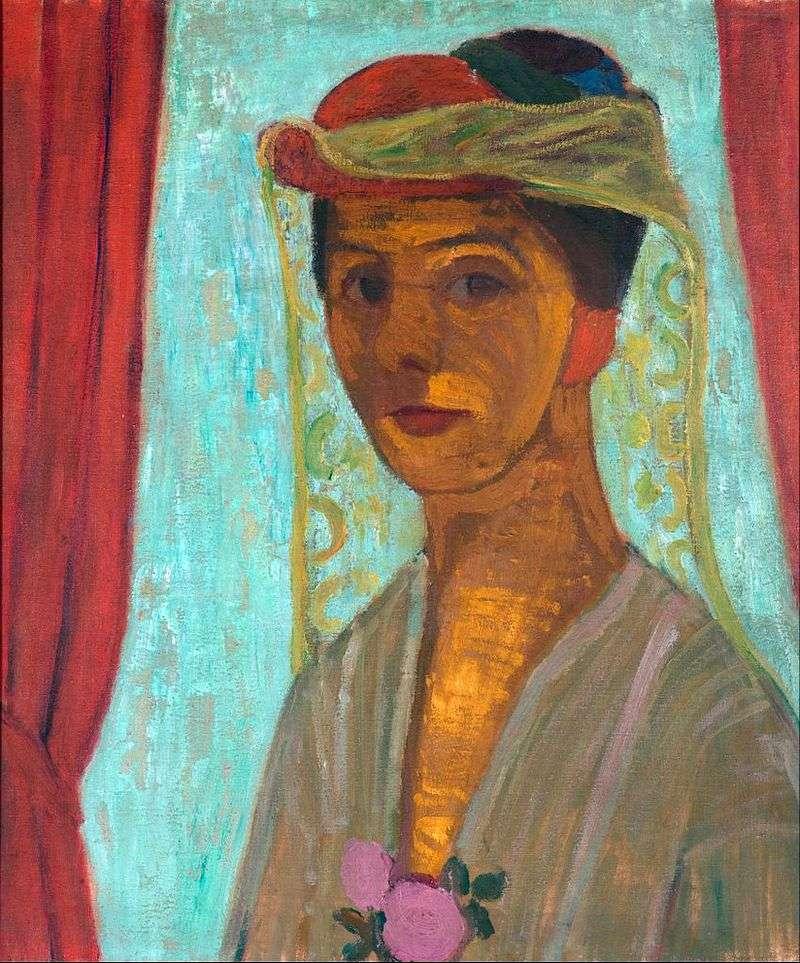 Автопортрет в капелюсі з вуаллю   Паула Модерзон Беккер