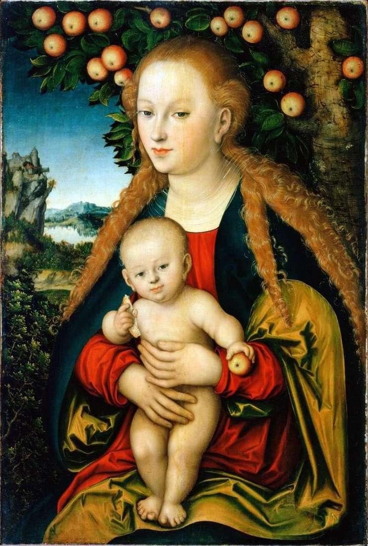 Мадонна з немовлям під яблунею   Лукас Кранах