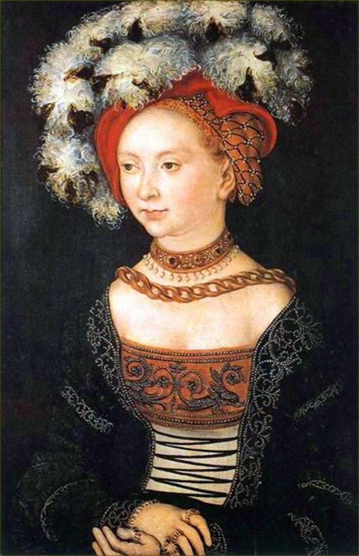 Молода жінка   Лукас Кранах