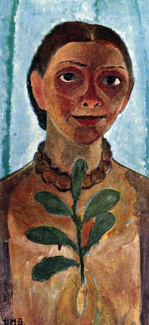 Автопортрет з камелиям   Паула Модерзон Беккер