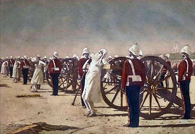 Придушення індійського повстання англійцями   Василь Верещагін