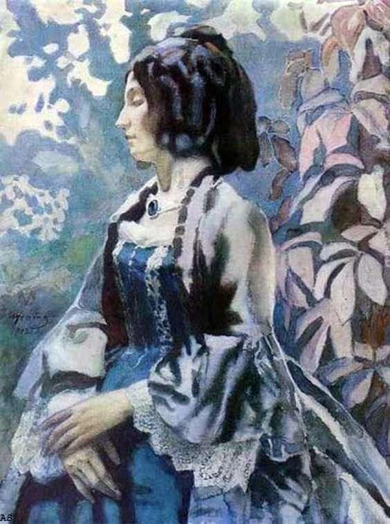 Дама в блакитному   Віктор Борисов Мусатов