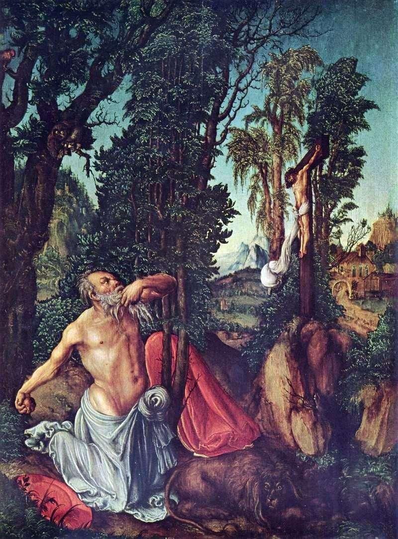 Покаяння святого Ієроніма   Лукас Кранах