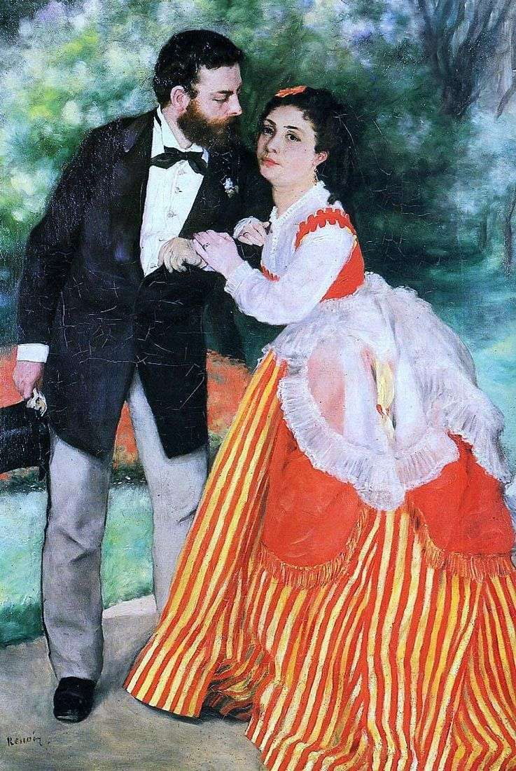 Портрет А. с Сіслея з дружиною   Пєр Огюст Ренуар
