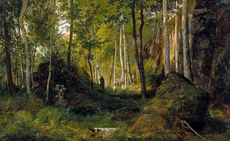 Пейзаж з мисливцем   Іван Шишкін
