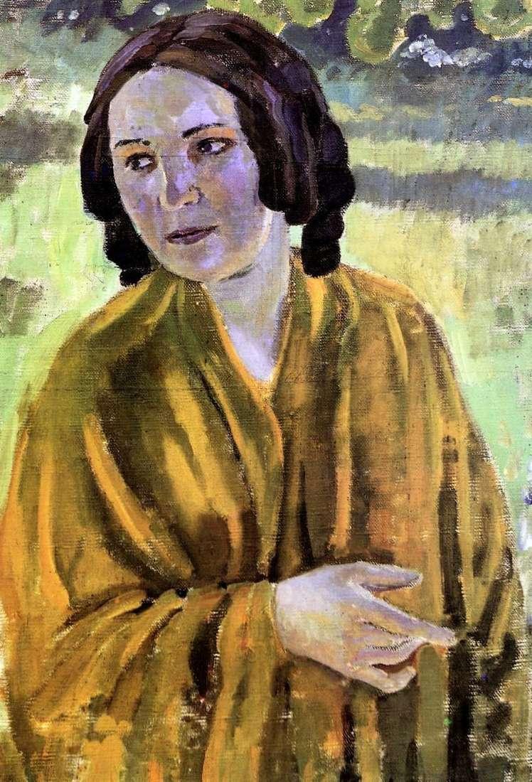 Дівчина у жовтій шалі   Віктор Борисов Мусатов