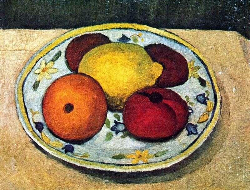 Натюрморт з лимоном, апельсином і помідором   Паула Модерзон Беккер