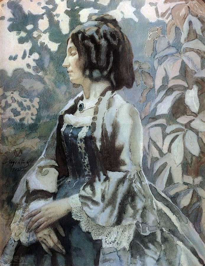Жінка в блакитному   Віктор Борисов Мусатов