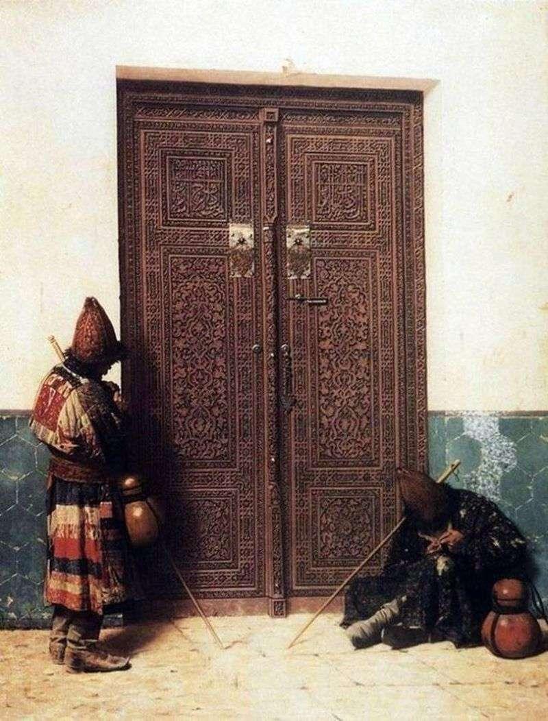 Біля дверей мечеті   Василь Верещагін